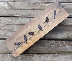 Birds on a wire Wedding Wine Box, Wine box ceremony, custom wine box, personalized wine box, rustic