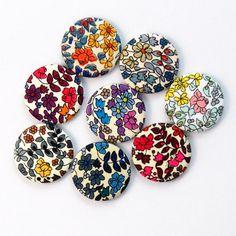 Badges Emilia's Flowers la fabricabrac Dawanda