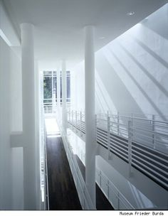 Interior of Frieder Burda Museum in Baden Baden, Richard Meier, 2004