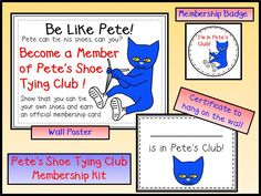 Peace, Love and Learning: Pete to the Rescue!  This ought to get the kids to want to learn how to tie their shoes!  Yay Pete!