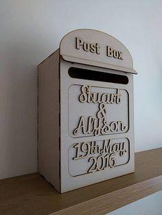 Wedding Post Box, Mailbox, Wedding Cards Box, Wedding day, Wooden English Post…