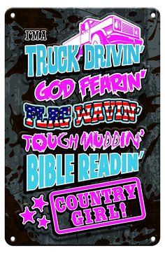 Country Girl - Christian Tin Signs