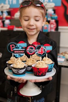 Cookies at a Motorcycle Rally Birthday Party with REALLY AWESOME Ideas via Kara's Party Ideas | KarasPartyIdeas.com #Harley #Motorcycle #Party #Ideas #Supplies #cupcakes