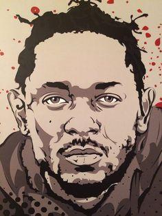 Kendrick Lamar Digital Art Print by taylorlindgrenart on Etsy