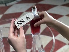 Go to the website for a gifset of different 'Drink Me' bottles in different Alice in Wonderland films Princess Aesthetic, Disney Aesthetic, Red Aesthetic, Alice In Wonderland Aesthetic, Adventures In Wonderland, Wonderland Alice, Wonderland Tattoo, Alice In Wonderland Photography, We All Mad Here