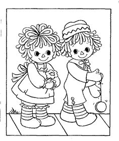 Raggedy Ann and Andy Mini-Coloring Book: Janet's Country Home