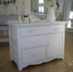 For the bathroom    chest table shabby chic furniture by backporchco on Etsy, $245.00