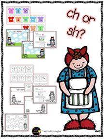 FREE word work activity to use with Mrs. Wishy-Washy.  Focus on the digraphs ch and sh.