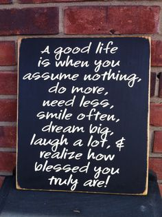 A good life Painted Wood Sign by Dingbatsanddoodles on Etsy, $24.00
