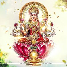Lakshmi is the Hindu god of wealth, fortune & prosperity and also the wife of Lord Vishnu. Here is a collection of Goddess Lakshmi Images & HD wallpapers. Lord Vishnu, Lord Ganesha, Lord Shiva, Wallpaper Downloads, Hd Wallpaper, Hanuman Wallpaper, Lakshmi Images, Krishna Images, Goddess Lakshmi