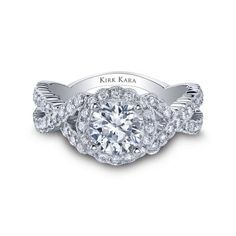 Kirk Kara Engagement Ring from Lee Michaels Fine Jewelry