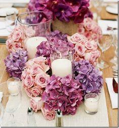 ombre flower centerpiece