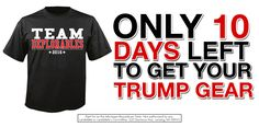 Go to http://migop.org/trump-gear to get a Team Deplorables t-shirt, a Trump/Pence stadium blanket, or a bumper sticker.  If you haven't heard, Hillary Clinton thinks you're deplorable: https://www.facebook.com/DonaldTrump/videos/10157686251470725/