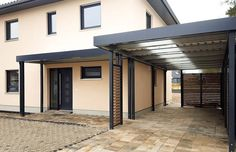 Carport with roof for the front door # Roof terrace Carport with roof . - Carport with roof for the front door # Covered terrace Carport with roof for the front door - Pergola Diy, Pergola Carport, Pergola Plans, Pergola Ideas, Carport Canopy, Carport Ideas, Terrace Ideas, Steel Pergola, White Pergola