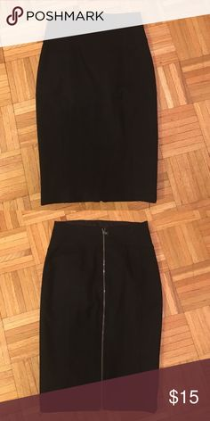 Black Pencil Skirt High waist pencil skirt that goes below the knee. Very flattering on all body types. Size 2. Stretchy. Skirts Midi