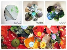 paper & button flowers