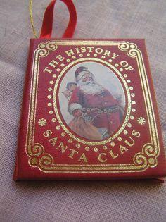 Christmas Ornament 1986 Kurt Adler Miniature The History of Santa Claus Book