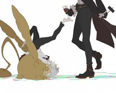 Such imaginative art! From D.Gray man, showing Timcampi, Allen and Cross