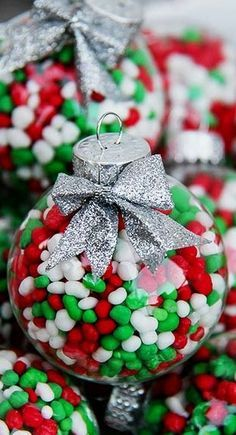 Candy Filled Ornaments: Make These Candy-Filled, Colorful Ornaments for Festive Tree Decorations or as Great Gifts.