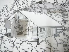 The girls love to colour in while I read!  Garth Williams' illustrations in The House Series by Laura Ingalls Wilder are absolutely goregous.  With these details in mind I made this house m…