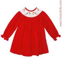 Smocked girls bishop dress newarrival christmas christmasgiftideas