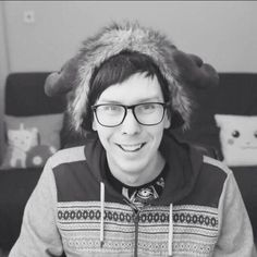 Probably my favourite photo of Phil- he's just so ADORKABLE!!!!