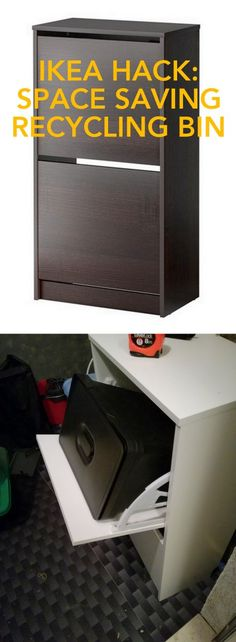 Woohoo! A neat and compact recycling bin solution. http://www.ikeahackers.net/2017/01/stack-trash-vertical-space-saver-trash-recycling.html