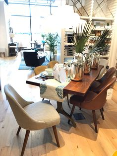 Cast Trestle Dining Table @ West Elm Vernon Hills. Special Mention To The  Mid Century Dining Chair.
