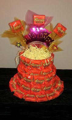 Here's another Reeses cake that I made.