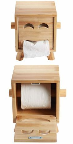 O dispenser de papel-higiênico mais estiloso que eu já vi - Wooden Face Tissue Box 7M Woodworking specializes in wood products design: incorporating unique handmade wooden tables, farmhouse light fixtures and other woodworking projects. Check out www.7mwoodworking.com (312) 545-0331