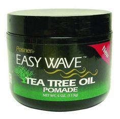 Posner Easy Wave Tea Tree Oil Pomade by Posner. $15.00. Enriched with Tea Tree Oil. Controls and Moisturizes Curly/Wavy Textured Hair. Adds long lasting sheen to hair. Promotes and maintains a healthy scalp. Posner Easy Wave Tea Tree Oil Pomade controls and feeds curly/wavy texturized hair while treating your dry scalp.