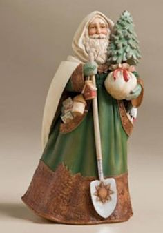 Good Steward Santa Figure Resin - 8 inches.