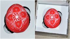 Easter hand painted egg cupcake