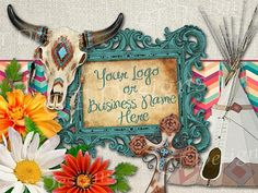 BOHO Theme Graphic Design Pack | Clipart, Native American, Indian, Western, Country, DYI Logo, flyer, business card, social media page Bull Skulls, Cow Skull, Buissness Cards, Burlap Background, Boho Theme, Time Design, Graphic Design Print, Vintage Frames, Quality Time