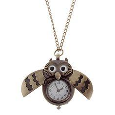 Unisexe Owl Vintage Style quartz d'alliage de poche d'analogue avec la chaîne – EUR € 5.47