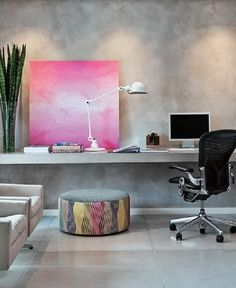 Oficina en casa moderna