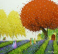 (Vietnam) by Phan Thu Trang (1979~).  Oil on canvas.