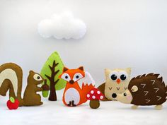 Woodland Creatures Set - Felt Sewing Patterns - Sewing Patterns at Makerist