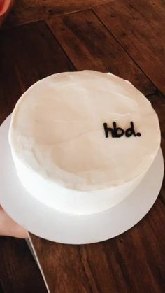 Simple Black & White Icing Decoration // Birthday Cake with HBD Cute Cakes, Pretty Cakes, Sweet Cakes, Funny Birthday Cakes, Happy Birthday, Simple Birthday Cakes, Birthday Wishlist, Girl Birthday, Aesthetic Food