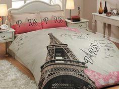 100 Cotton Paris Eiffel Tower QUEEN Double by AccueilMagasin, $89.00
