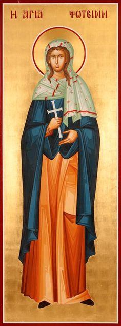 Αγ.Φωτεινή «έξω της θύρας των Βλαχερνών»    _  aug  20   OR    Οσία Φωτεινή η Κυπρία     _ aug 2  OR   Αγ. Φωτεινή η Μεγαλομάρτυς η Σαμαρείτιδα       _ fabr 26                ( St. Photini : Portable Icons : ICONOGRAPHY, Byzantine Artworks, LLC Historic Preservation Church Artisans