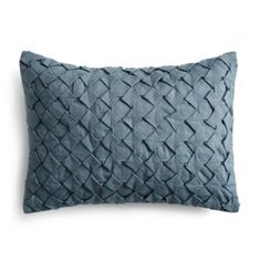 "Vera Wang Corrugated Texture Geometric Decorative Pillow, 12"" x 16"" 