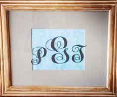 Monogrammed frame. PGT
