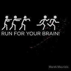 Run for your BRAIN! Zombies Stickman T-Shirt.