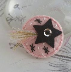 Shooting Star baby felt hair clip