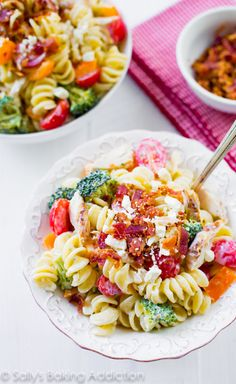 Creamy Chicken Pasta Creamy Chicken Pasta Salad with Greek yogurt-- easy, quick, and makes great leftovers!