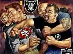 Battle of the Bay Raiders Sign, Oak Raiders, Raiders Stuff, Oakland Raiders Football, Raiders Baby, Football Memes, Football Team, Football Stuff, Raiders Cheerleaders