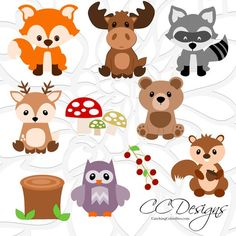 Cute Baby Woodland Forest Animals, SVG Cut Files, Deer Cut Files, Cute Baby Fox SVG files from Catching Colorflies Woodland Theme, Woodland Baby, Woodland Nursery, Woodland Creatures Nursery, Moose Nursery, Woodland Forest, Forest Animals, Woodland Animals, Woodland Critters