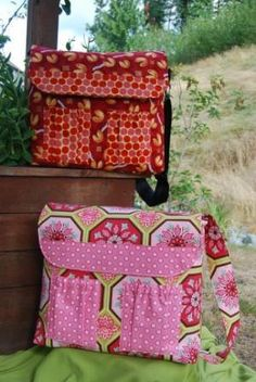 The Lucky Baby Convertible Diaper Bag Sewing Pattern | wiredupdesigns - Patterns on ArtFire