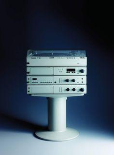 Braun Modulares HiFi-Audio- und Videosystem 'atelier' von 1982. Design: Peter Hartwein und Dieter Rams, Foto: Koichi Okuwaki